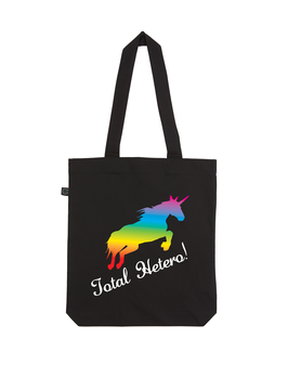 EARTHPOSITIVE® ORGANIC FASHION BAG  |   BLACK  |   TOTAL HETERO!
