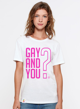 WHITE SHIRT   |   GAY AND YOU?   |   PINK