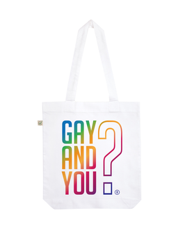 EARTHPOSITIVE® ORGANIC FASHION BAG  |   WHITE  |   GAY AND YOU?