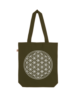 EARTHPOSITIVE® ORGANIC FASHION BAG  |   MOOS GREEN  |   FLOWER OF LIFE