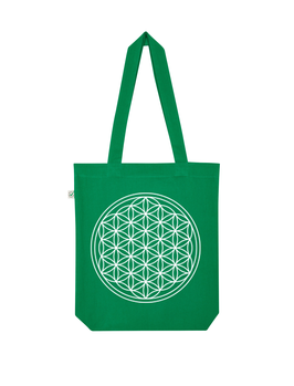 EARTHPOSITIVE® ORGANIC FASHION BAG  |   KELLY GREEN  |   FLOWER OF LIFE