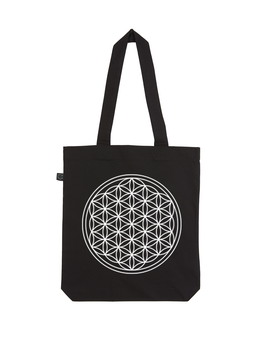 EARTHPOSITIVE® ORGANIC FASHION BAG  |   BLACK  |   FLOWER OF LIFE