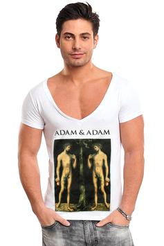 ADAM & ADAM | V-Shirt | WEISS