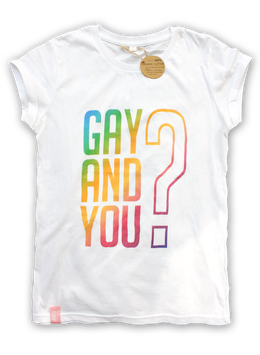 GAY AND YOU | WHITE/RAINBOW