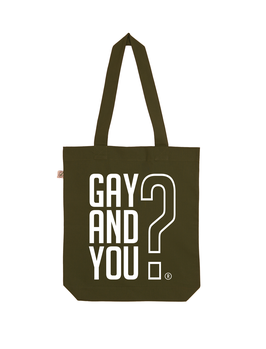 EARTHPOSITIVE® ORGANIC FASHION BAG  |   MOOS GREEN  |   GAY AND YOU?