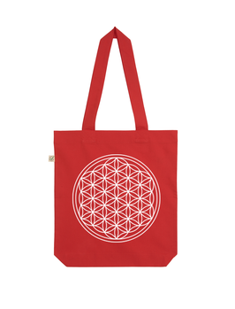 EARTHPOSITIVE® ORGANIC FASHION BAG  |   RED  |   FLOWER OF LIFE