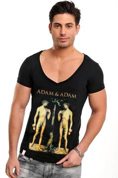 ADAM & ADAM | V-Shirt | SCHWARZ