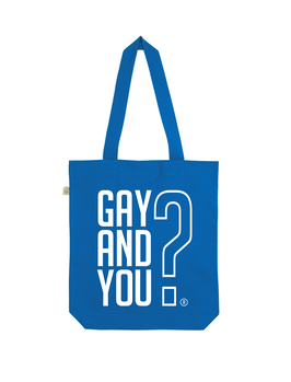 EARTHPOSITIVE® ORGANIC FASHION BAG  |   BRIGHT BLUE  |   GAY AND YOU?