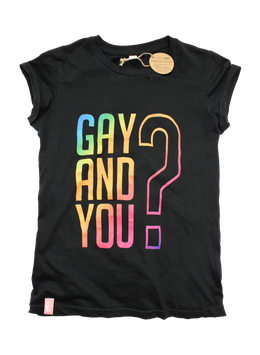 GAY AND YOU | BLACK/RAINBOW