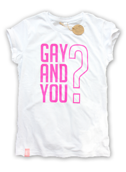 TEST GAY AND YOU | WHITE/NEON PINK