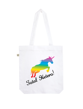 EARTHPOSITIVE® ORGANIC FASHION BAG  |   WHITE  |   TOTAL HETERO!