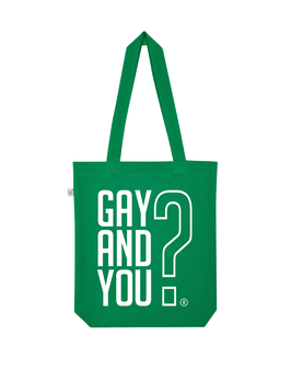 EARTHPOSITIVE® ORGANIC FASHION BAG  |   KELLY GREEN  |   GAY AND YOU?