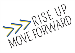 Postkarte: Rise up Move forward