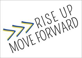 Postkarte: Rise up Move forward