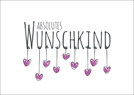 Postkarte Absolutes Wunschkind