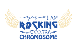 Postkarte: I am rocking my exxxtra Chromosome