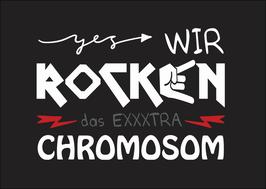 Postkarte: Wir rocken das extra Chromosom