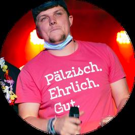 """T-Shirt """"Pälzisch.Ehrlich.Gut."""" in WorschdiPINK"""