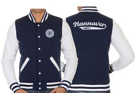 OFC College-Jacke | Farbe: Dunkelblau, mit weißen Ärmeln