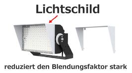 Lichtschild für LED Strahler Sniper T 900