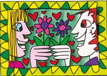 James Rizzi - the flower power of love