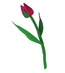 Tulpe aus Filz