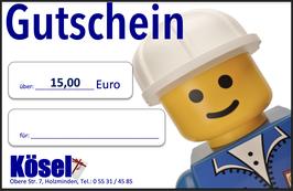 Geschenkgutschein im Wert von 15,00 Euro