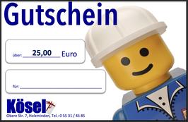Geschenkgutschein im Wert von 25,00 Euro