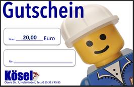 Geschenkgutschein im Wert von 20,00 Euro
