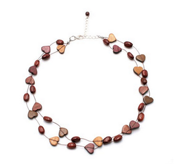 Collier en bois multicolore Bella