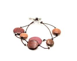 Bracelet en bois multicolore Lilou