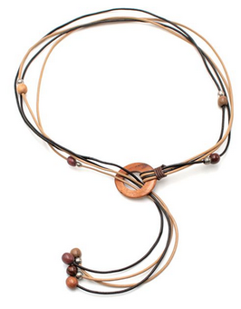 Collier en bois multicolore Nelly