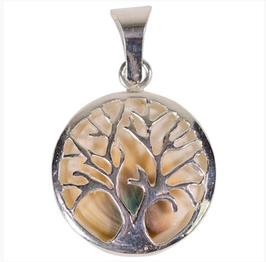 Pendentif arbre de vie et opercule, argent 925