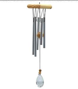 Carillon à vent à cinq tubes capteur vent cristal 0253