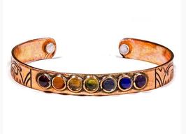 Bracelet couleurs 7 chakras cuivre magnétique 17680
