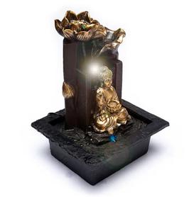 Fontaine à eau Bouddha fleurs de lotus 15505