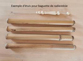 Etui de baguette radiesthésie en bambou