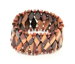 Bracelet en bois bicolore Noa