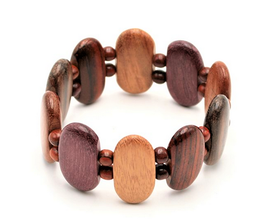 Bracelet en bois multicolore Joy