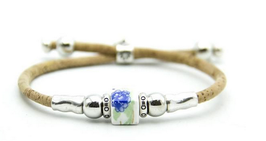 Bracelet végan céramique carrée et liège -  BR-BR293V