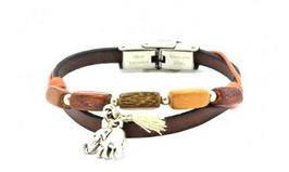 Bracelet cuir et bois