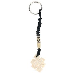 Porte clefs nœud infini blanc 16168/1
