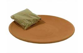 Assiette en terre cuite pour encens