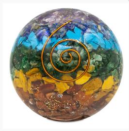 Boule d'Orgonite Chakra