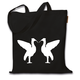 Jutebeutel Birds (schwarz)