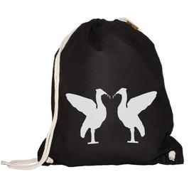 Turnbeutel Birds (schwarz)