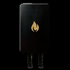 Nordic Flame Löschdecke Schwarz/Gold