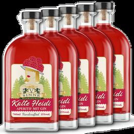 5 x V-SINNE Gin-Aperitif KALTE HEIDI 0,7L