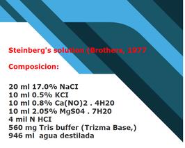SUERO: solucion de Steinberg's  2 -solo uso por veterinario o tener conocimiento-