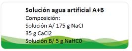 Formula  para agua artificial de estanque anfibios y peces A+B